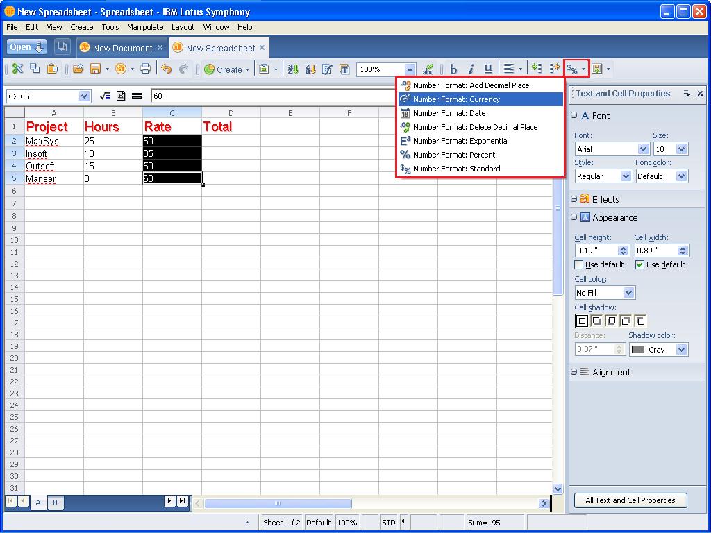 Taking A Look At Ibm Lotus Symphony Spreadsheets   Page 3   Techrepublic For Ibm Lotus Spreadsheet