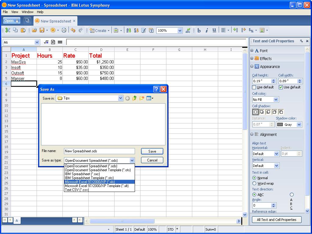 Taking A Look At Ibm Lotus Symphony Spreadsheets   Page 5   Techrepublic Also Ibm Lotus Spreadsheet