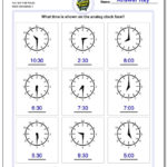 Telling Analog Time With Regard To Time To The Minute Worksheets