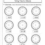 Telling Time Worksheets From The Teacher's Guide For Time To The Minute Worksheets