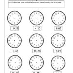 Telling Time Worksheets From The Teacher's Guide Pertaining To Time To The Minute Worksheets