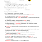 Test Review Answers Along With Nuclear Chemistry Worksheet Answer Key