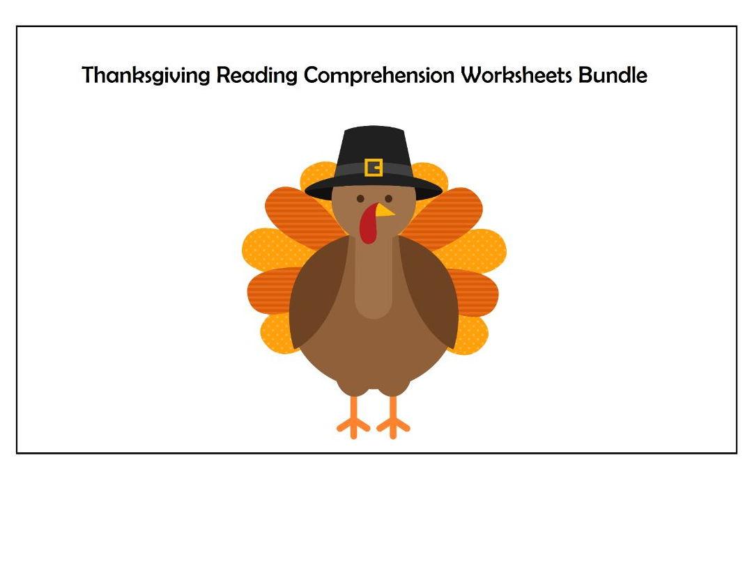 Thanksgiving Reading Comprehension Worksheets Bundle Save 40 Along With November Reading Comprehension Worksheets