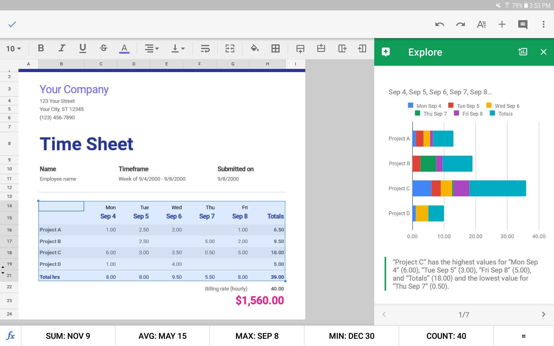 The 5 Best Spreadsheet Apps For Android In 2019 Throughout Best Spreadsheet App For Ipad