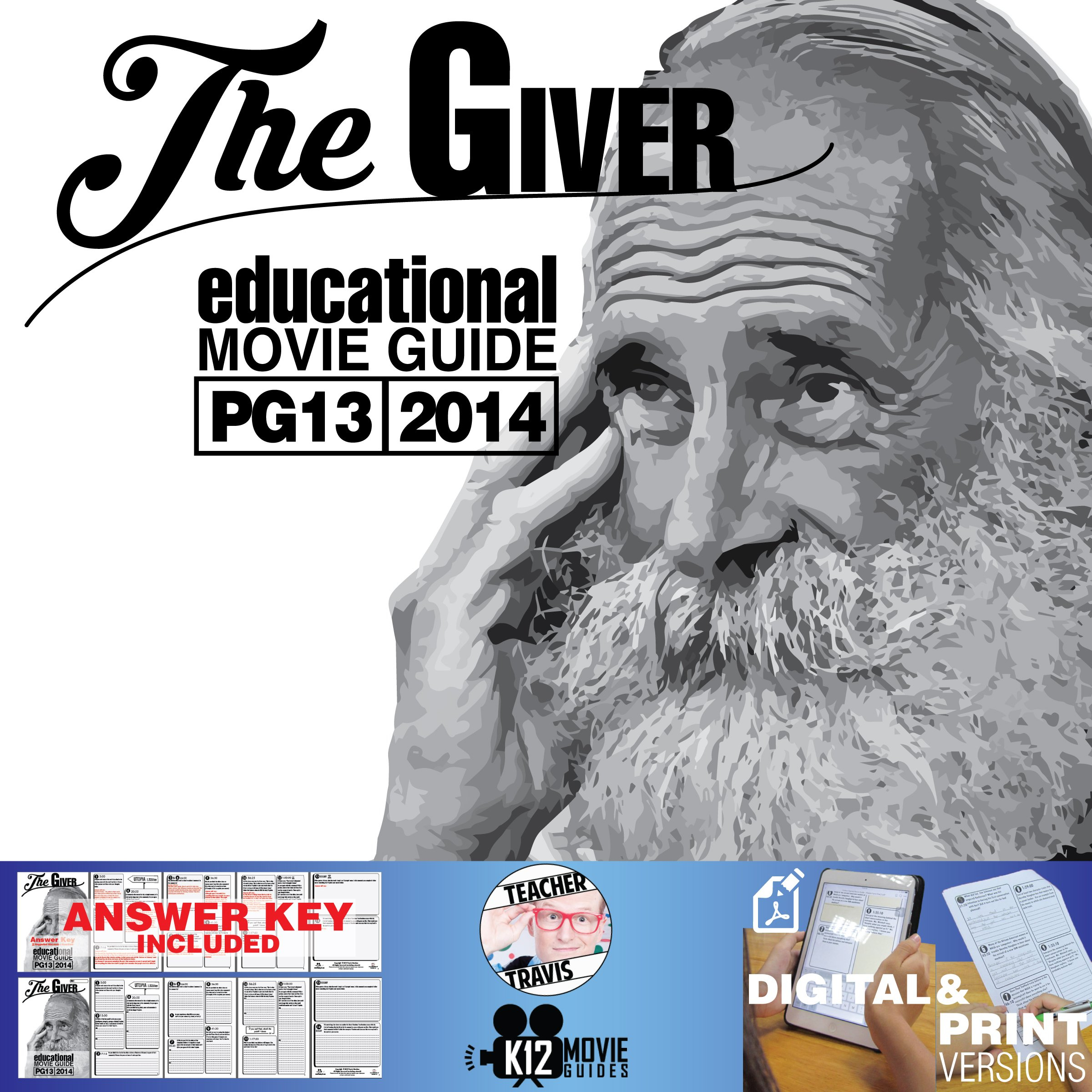 The Giver Movie Guide  Questions  Worksheet Pg13  2014 Along With The Giver Worksheets Pdf
