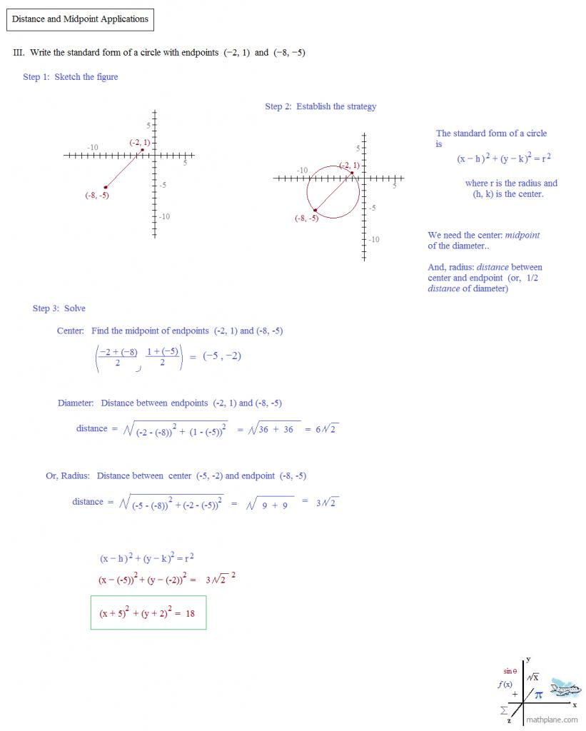 The Midpoint Formula Worksheet D10 16 And Distance Formulas Math Inside Midpoint And Distance Formula Worksheet Pdf