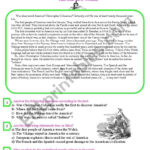The Old New World Third Year Exam  Esl Worksheethallouma For Explorers Come To The New World Worksheet Answers