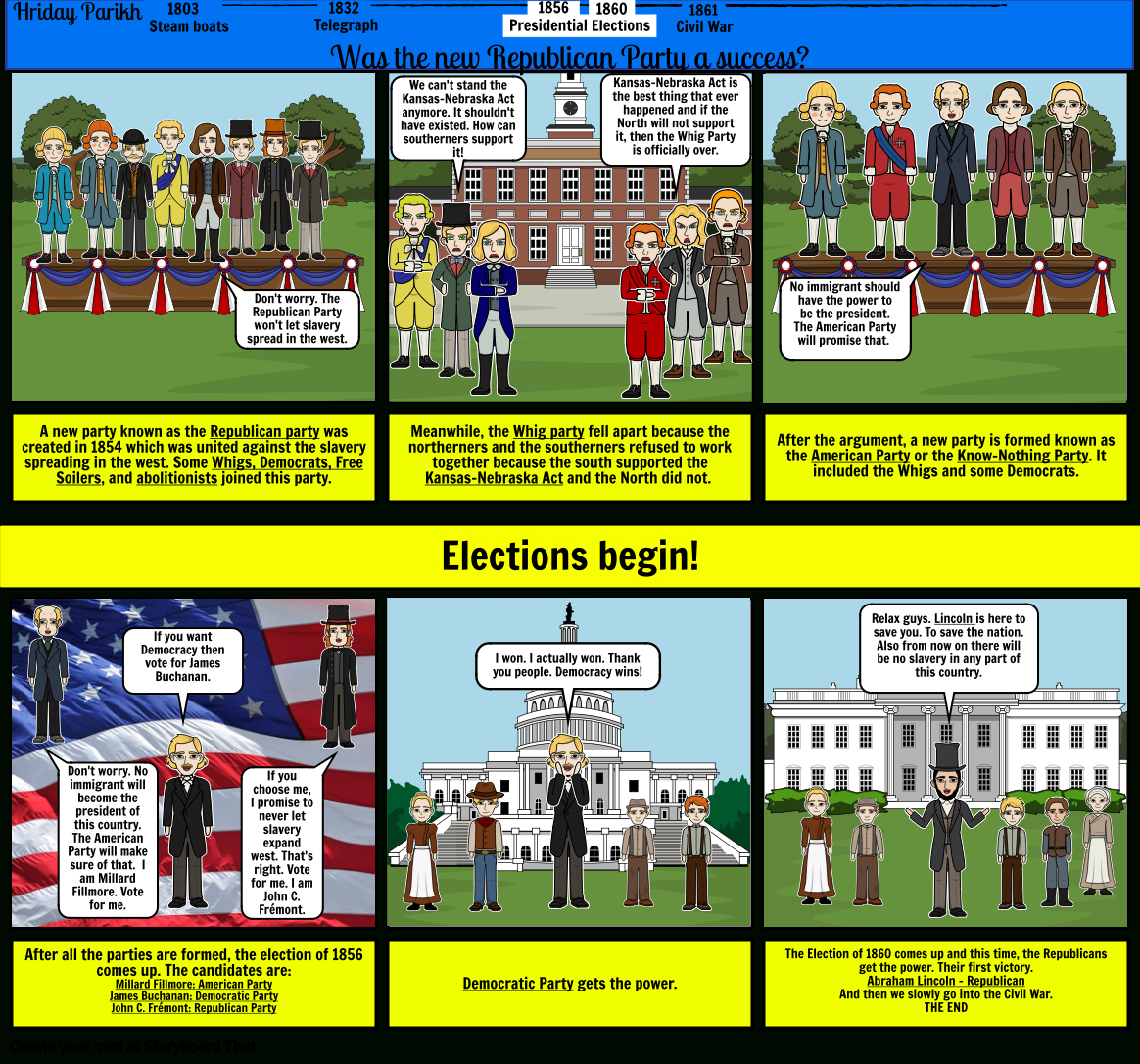 The Republican Party Storyboard40E2Febd With The Birth Of The Republican Party Worksheet
