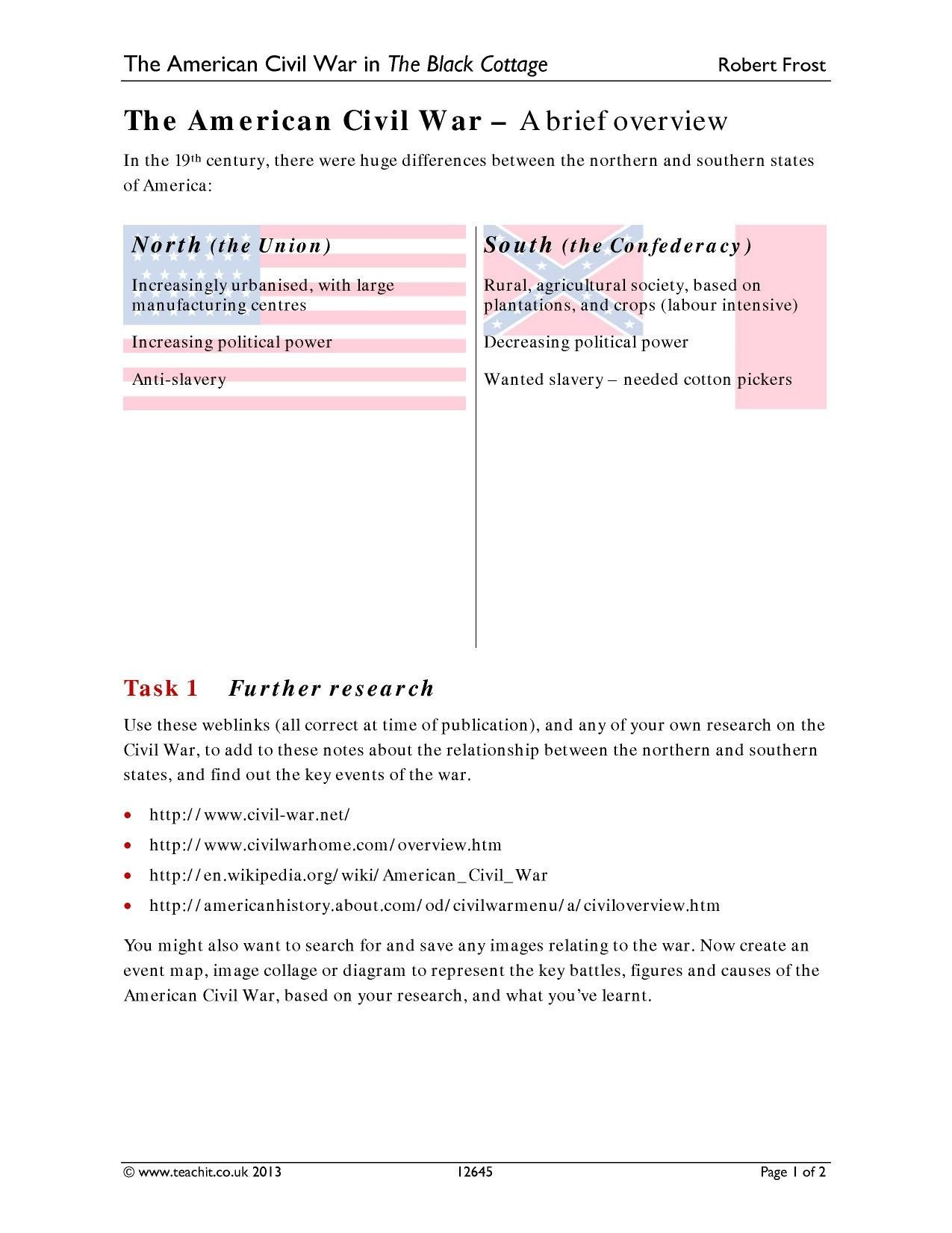 The Road To The Civil War Worksheet Answers  Briefencounters And The Road To The Civil War Worksheet Answers
