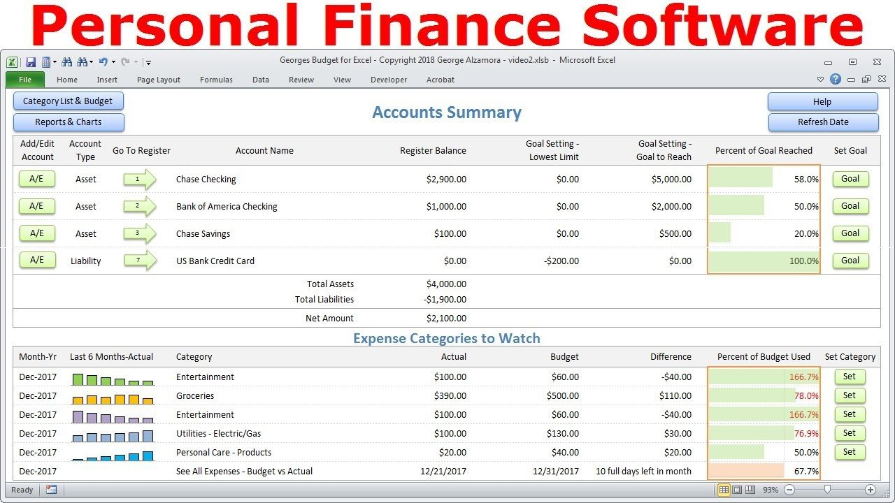 Top Budget Software, Personal Finance Software, Simple Budget ... Intended For Personal Budget Finance