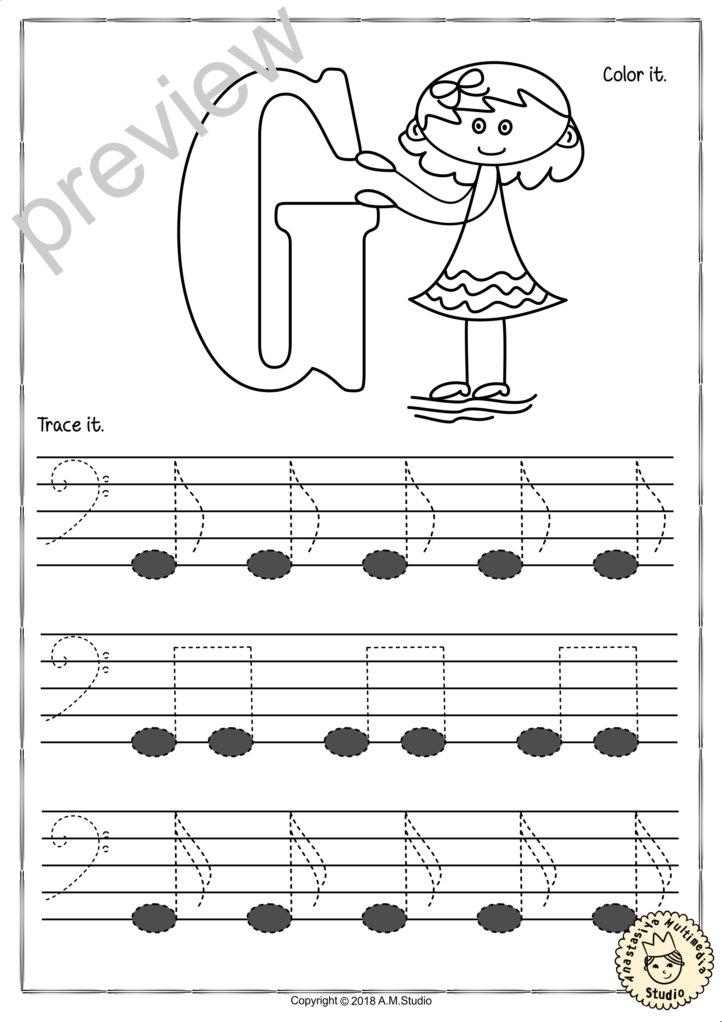 Tracing Music Notes Worksheets For Kids Bass Clef7  Anastasiya Inside Music Worksheets For Kids