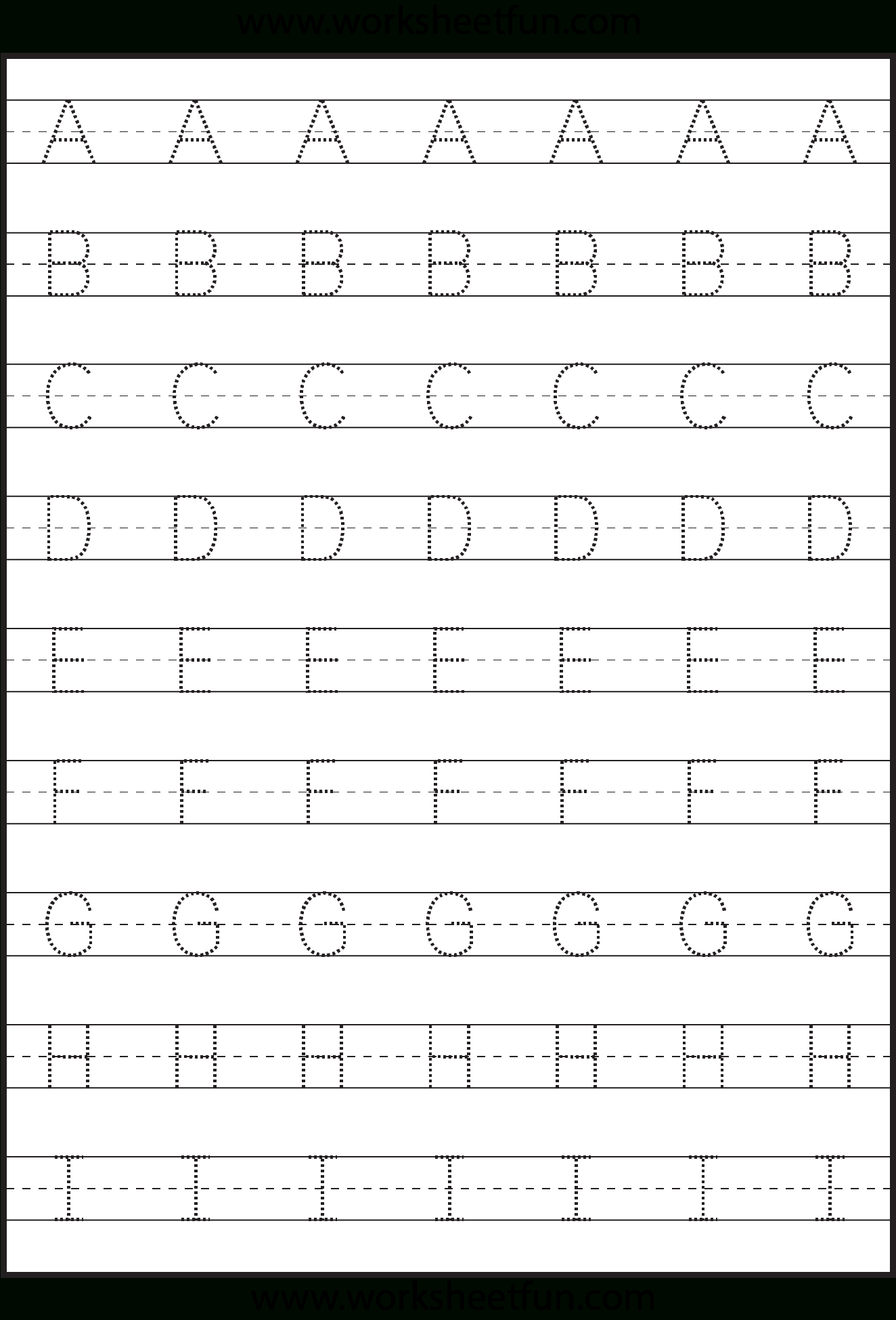 Tracing – Uppercase Letters – Capital Letters – 3 Worksheets  Free Intended For Preschool Abc Worksheets