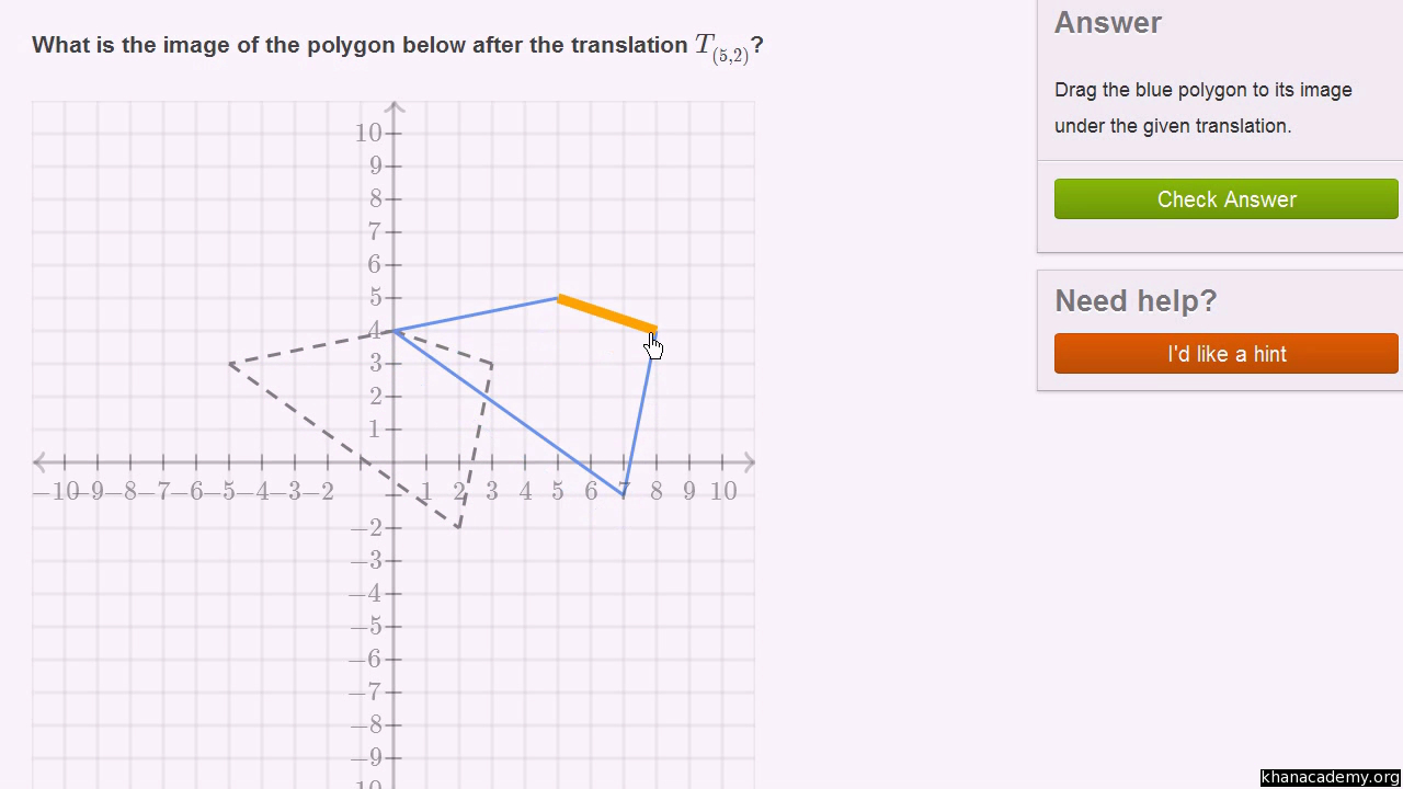Transformations  Geometry All Content  Math  Khan Academy For Translations Of Shapes Worksheet Answers