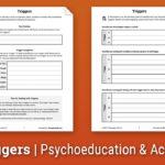 Triggers Worksheet  Therapist Aid Regarding Substance Abuse Triggers Worksheet