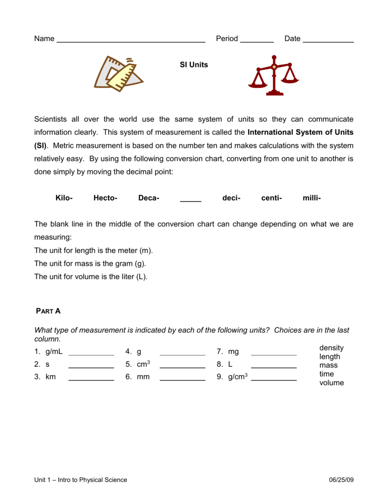 Units  Unit Conversions Worksheet Throughout Unit Conversion Worksheet Answers