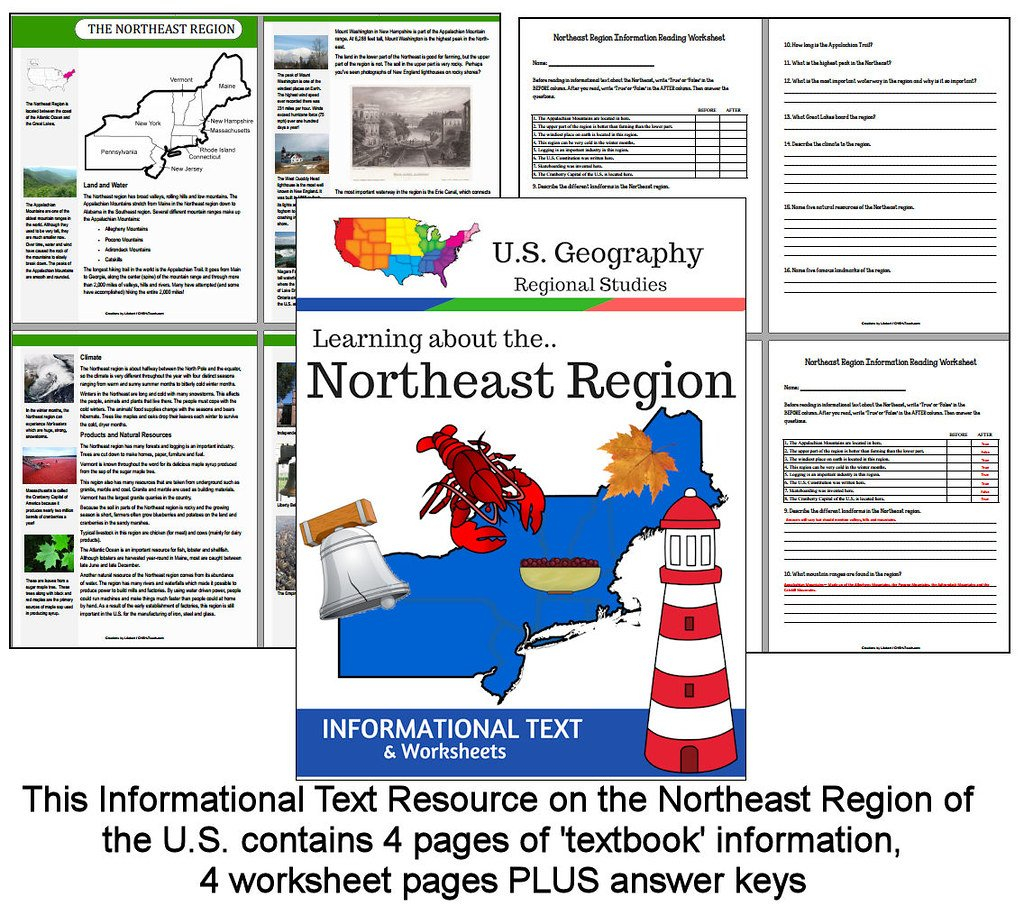 Us Northeast Region Informational Text  Downloads Availab…  Flickr With Northeast Region Worksheets