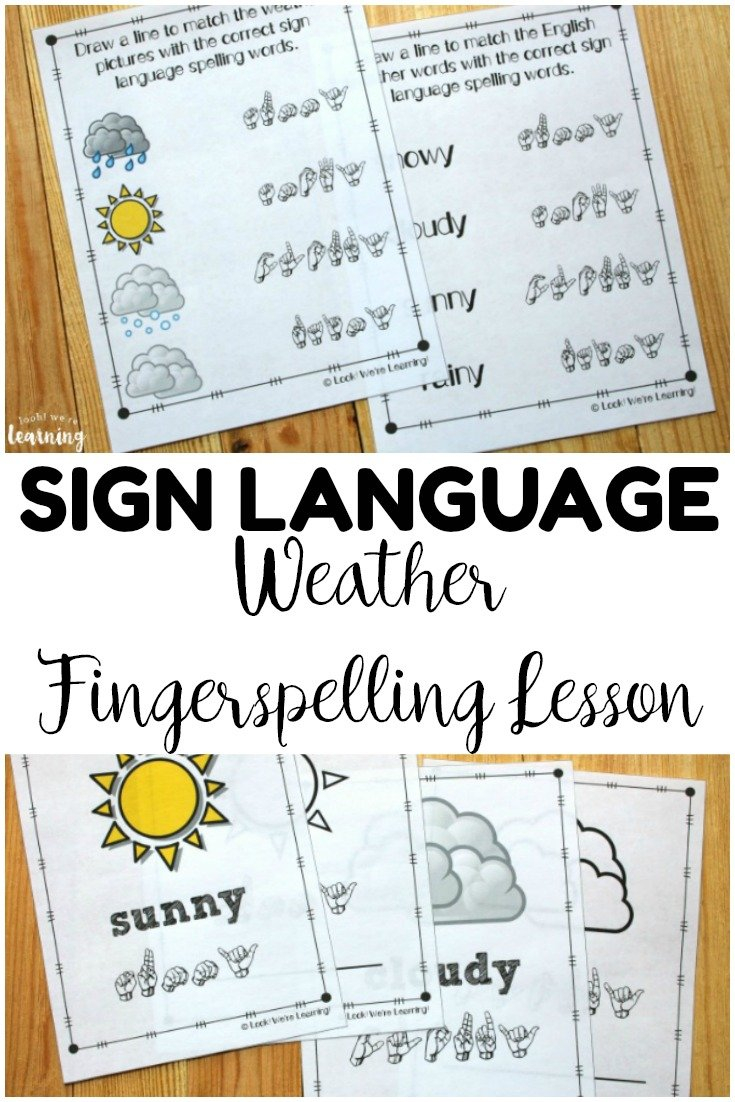 Weather Asl Coloring Pages  Look We're Learning Together With Fingerspelling Practice Worksheets