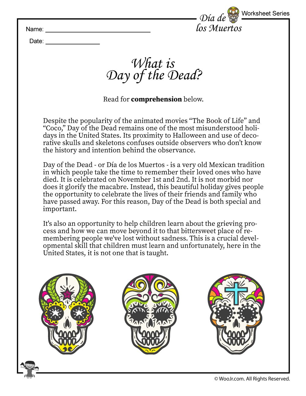 What Is The Day Of The Dead Dia De Los Muertos  Woo Jr Kids Along With Dia De Los Muertos Worksheet