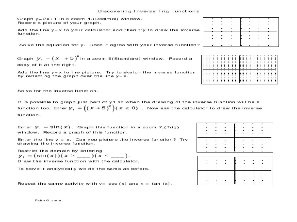 Worksheet 7 4 Inverse Functions Answers — excelguider.com