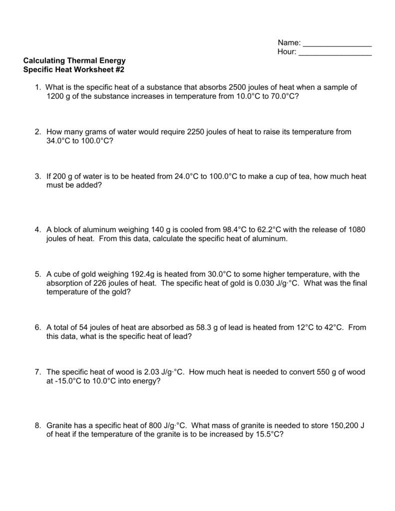 Worksheet Energy Transformation Worksheet Energy Transformation Regarding Thermal Energy Worksheet Middle School