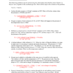 Worksheet – Gas Laws Iii Inside Combined Gas Law Problems Worksheet Answers