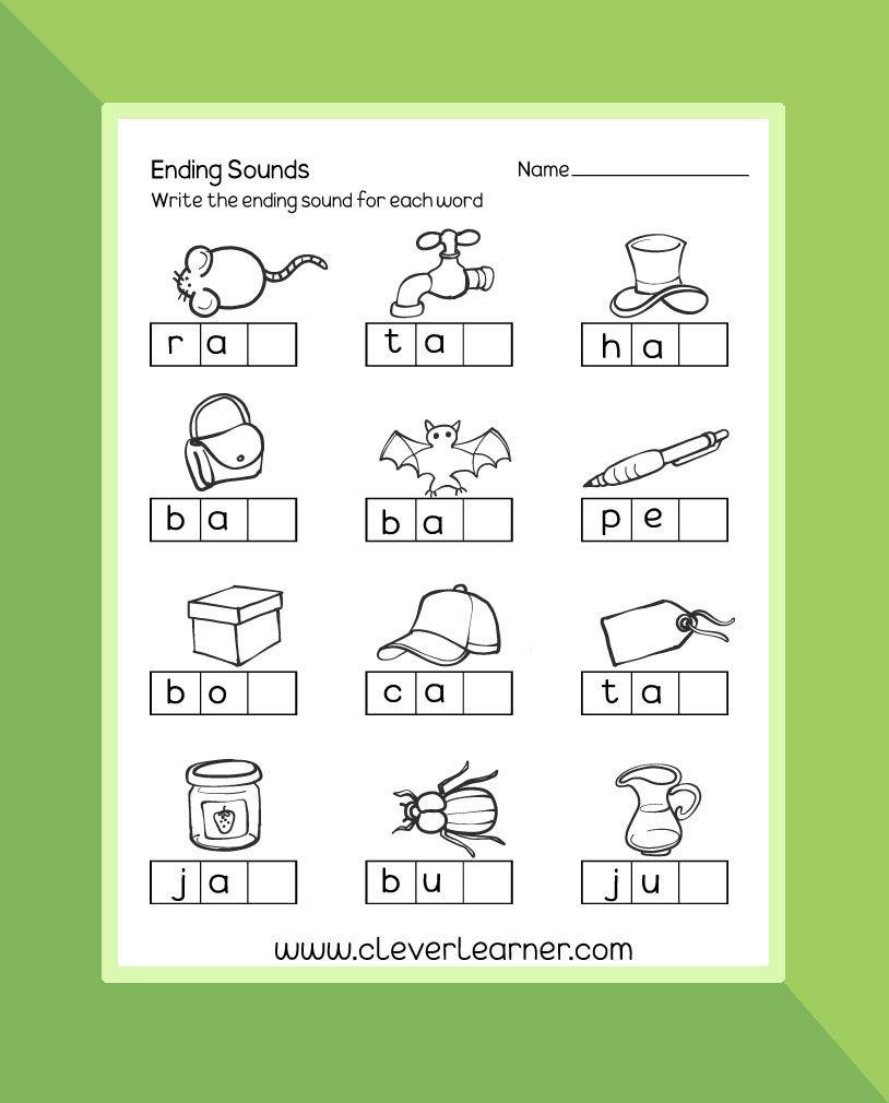 Worksheet Preschool Worksheet Ending Sounds Preschool Worksheet And Ending Sounds Worksheets For Kindergarten