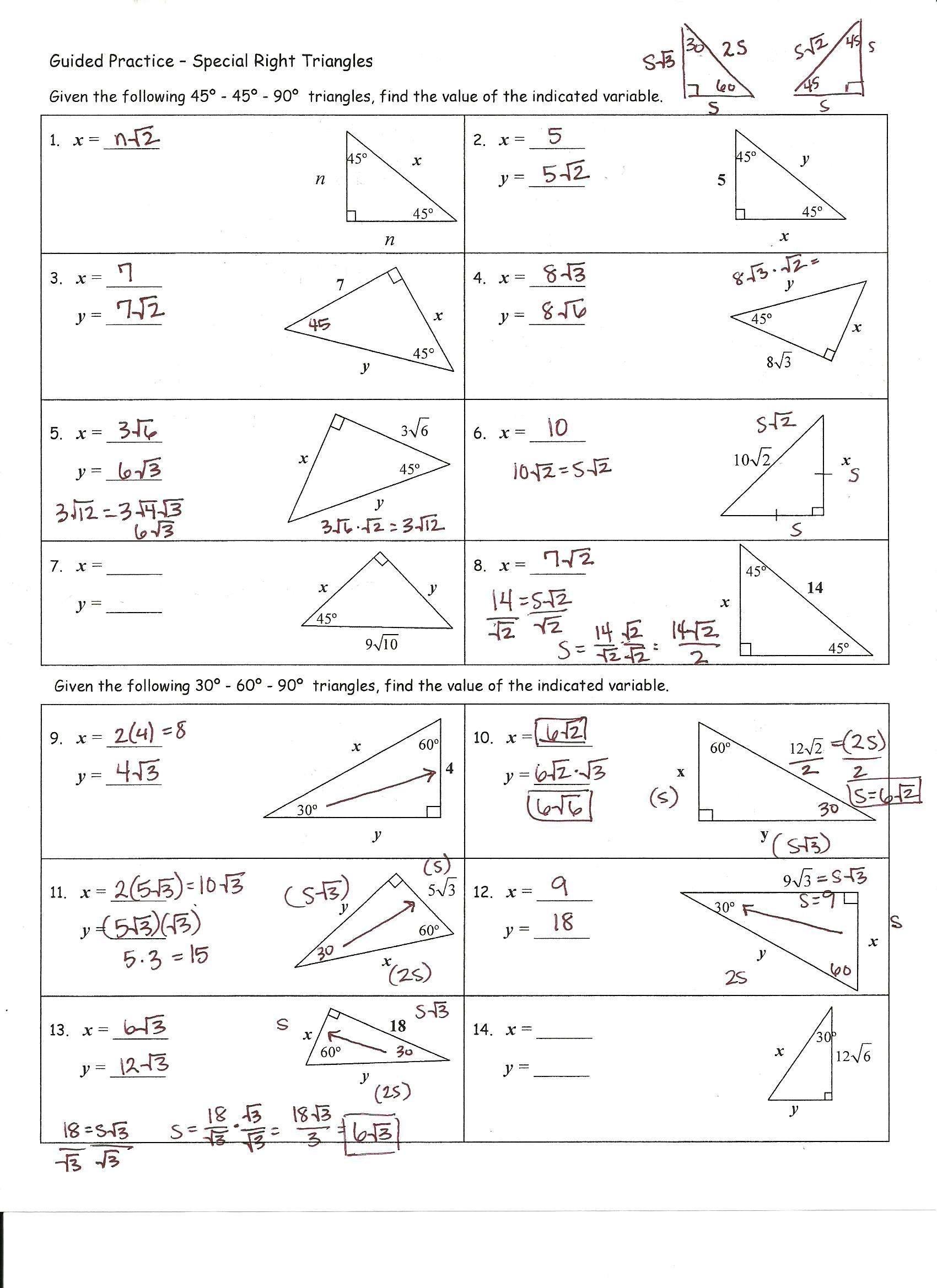 Worksheet Right Triangle Trigonometry Worksheet Trigonometry Intended For Right Triangle Trigonometry Worksheet Answers