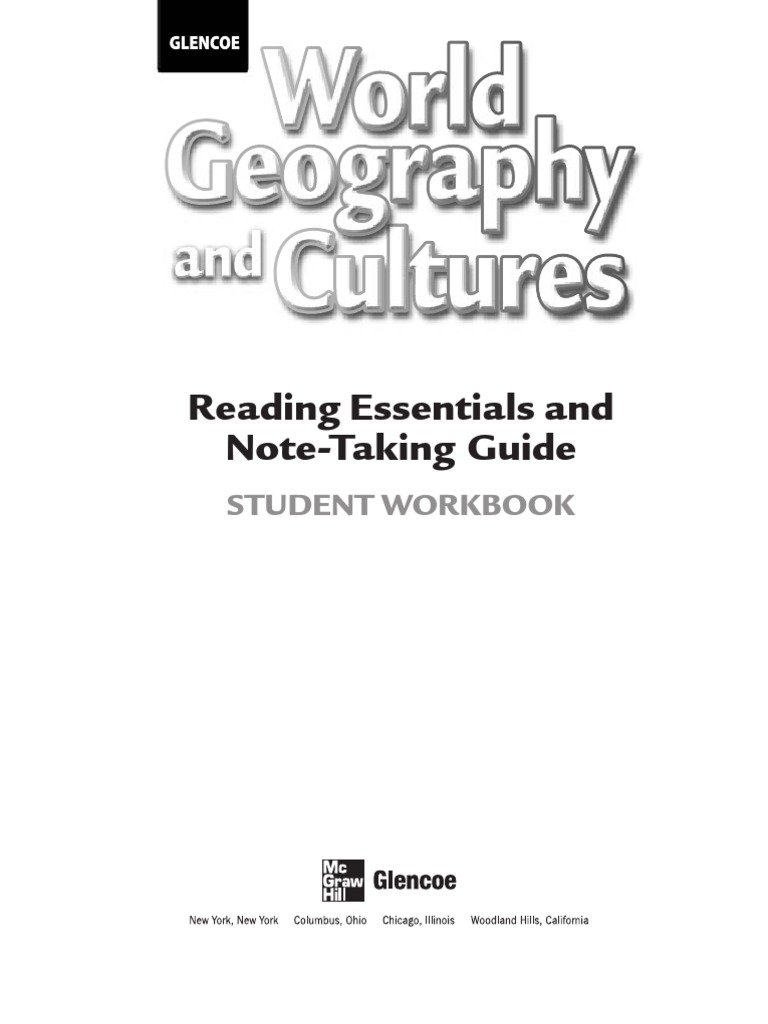 World Geography And Cultures  Reading Essentials And Notetaking Throughout Glencoe World Geography Worksheet Answers