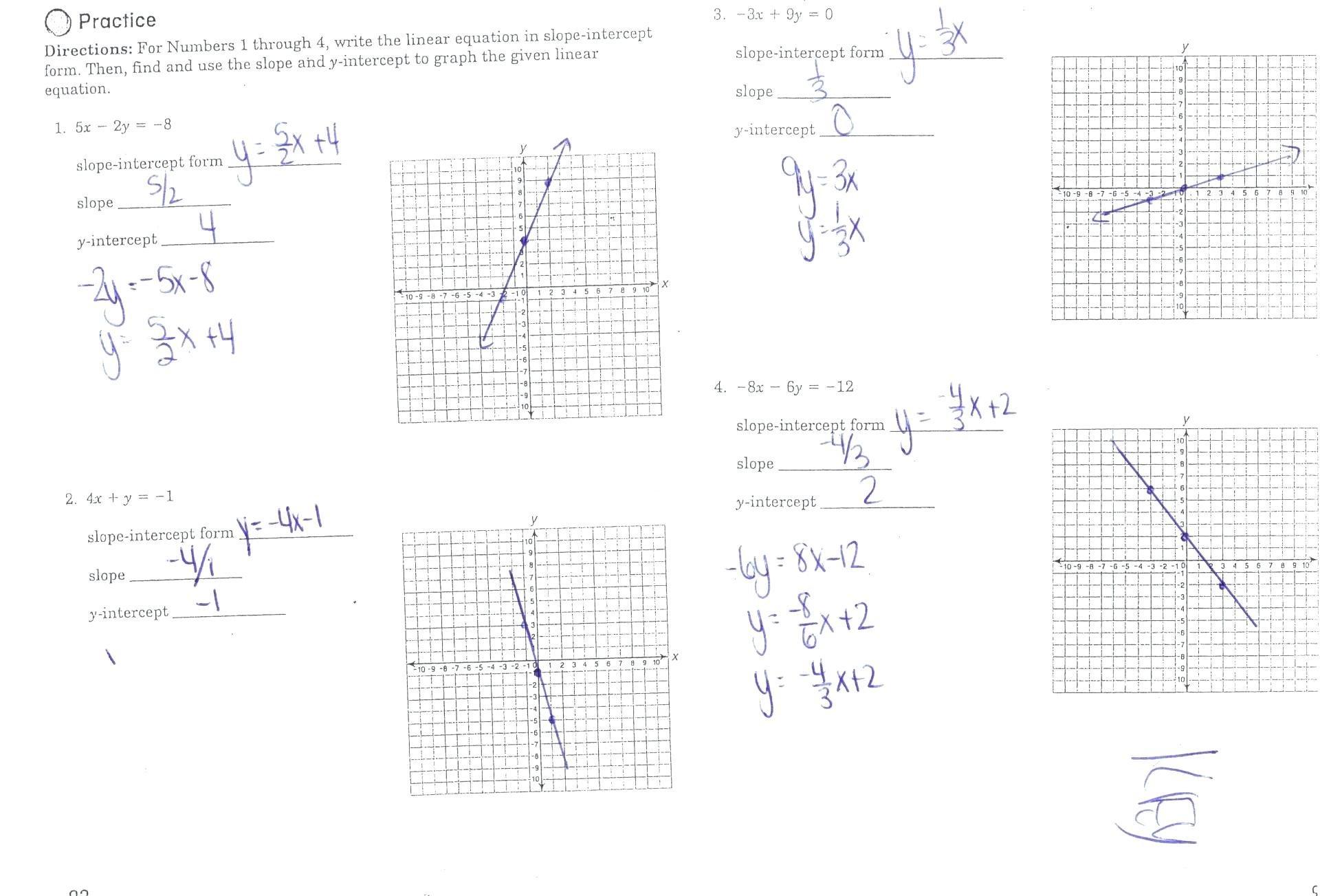 X And Y Intercepts Worksheet Math – Upskillclub And Finding X And Y Intercepts Worksheet