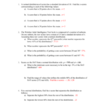 Zscore Practice Worksheet As Well As Standard Deviation Worksheet With Answers Pdf
