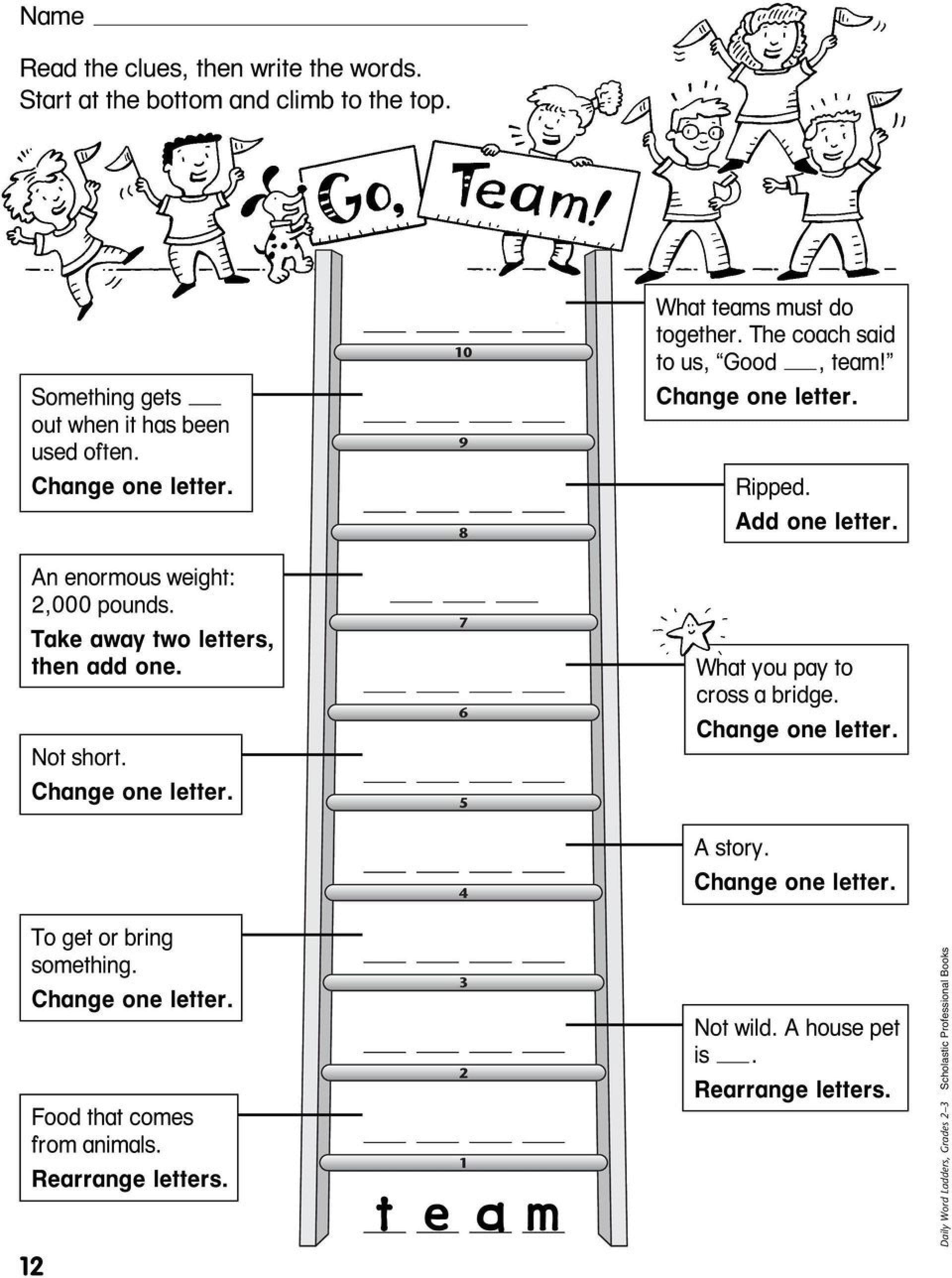 017 Printable Word Ladders Middle School Excellent  Istherewhitesmoke Regarding Word Ladder Worksheets For Middle School