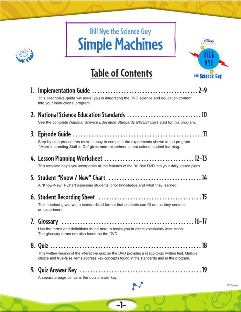 10 Simple Machines Throughout Bill Nye Simple Machines Worksheet Answers