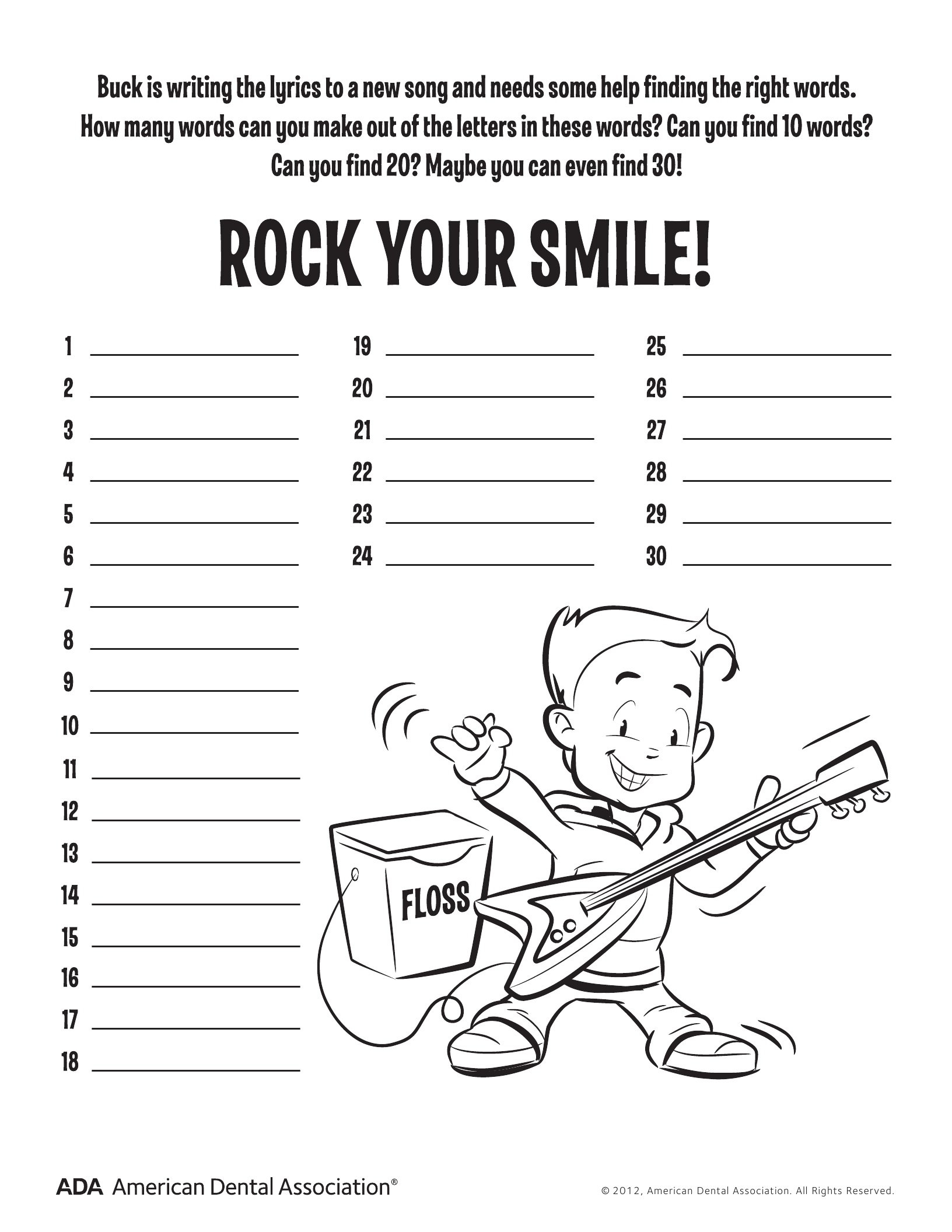 11 Dental Health Activities – Puzzle Fun Printable  Personal Hygiene And Dental Care Worksheets