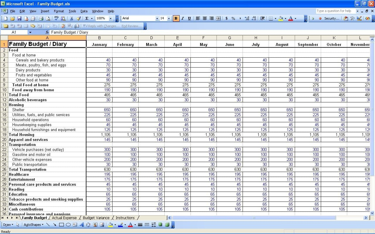 15 Free Personal Budget Spreadsheet  Excel Spreadsheet And Financial Expenses Worksheet