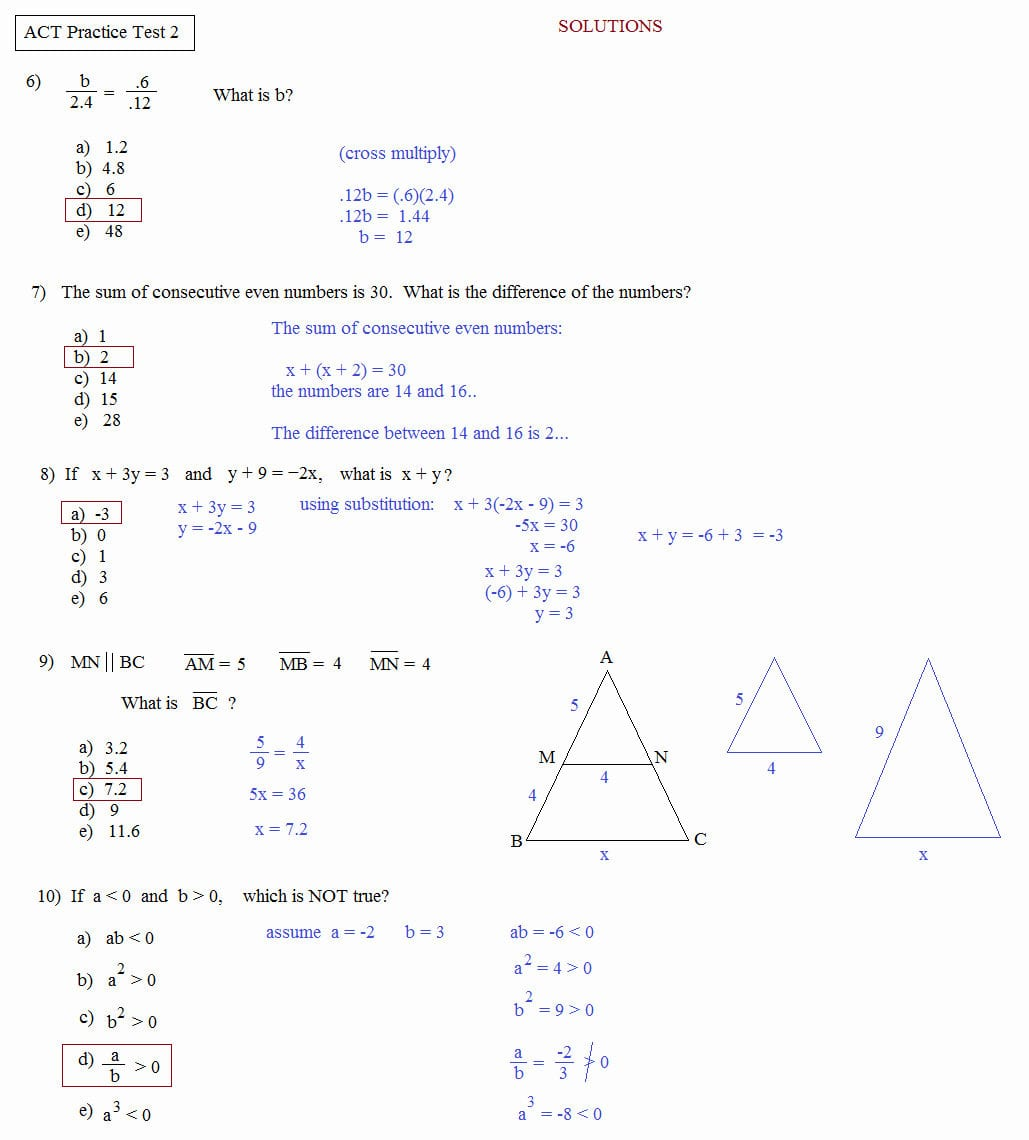 17 Act Prep Science Worksheets – Cgcprojects – Resume Inside Act Math Practice Worksheets