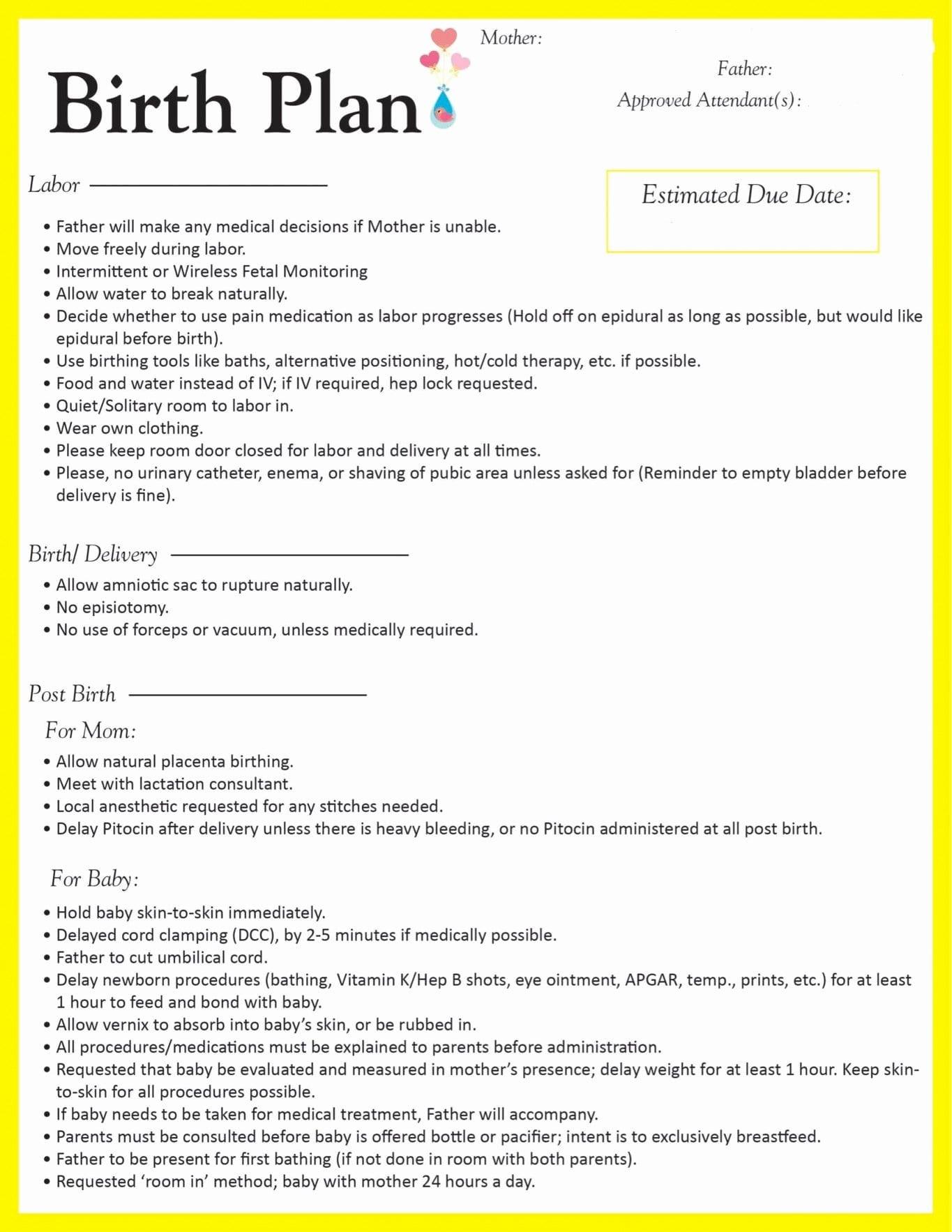 20 C Section Birth Plan Worksheet – Diocesisdemonteria Regarding Birth Plan Worksheet