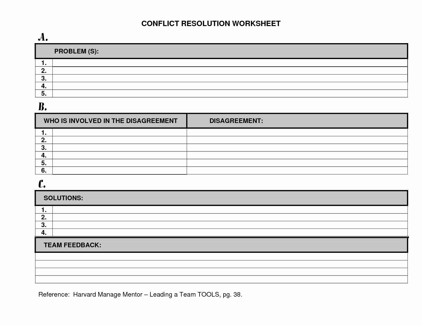 20 Worksheets On Conflict Resolution – Diocesisdemonteria For Conflict Resolution Worksheets