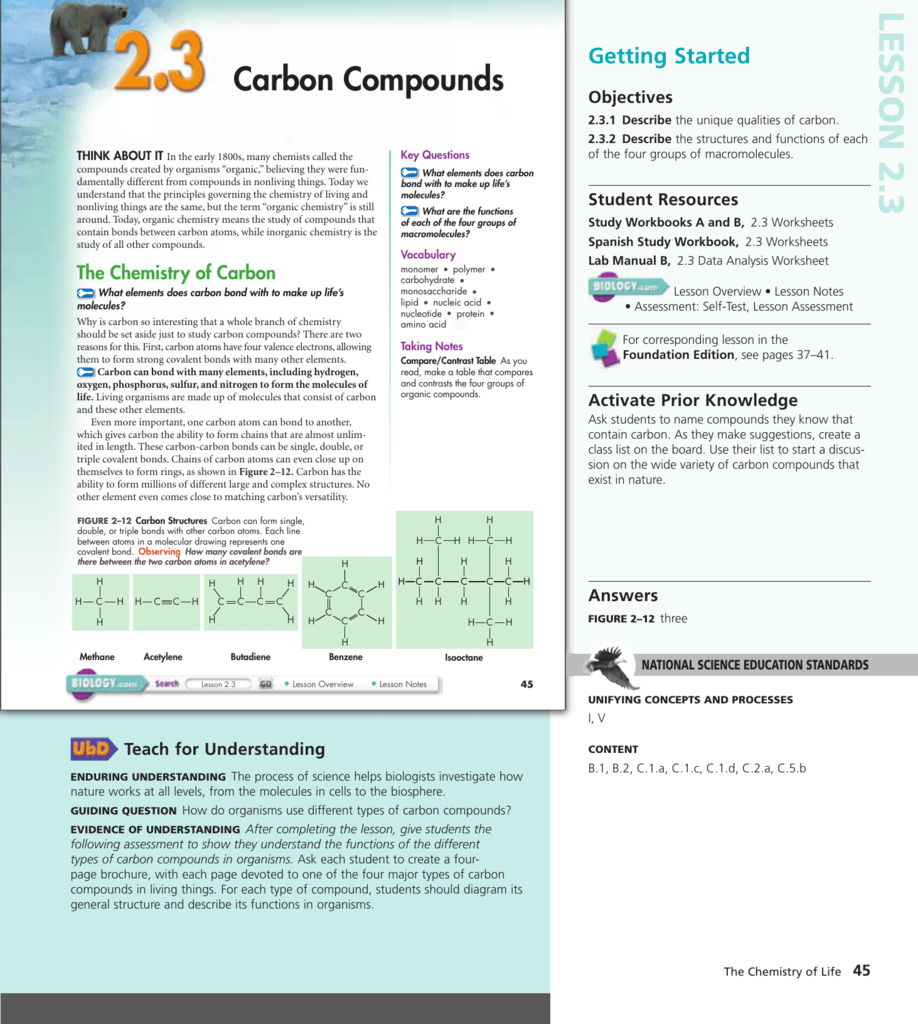 35 Carbon Compounds Worksheet Answers   Worksheet Resource ...