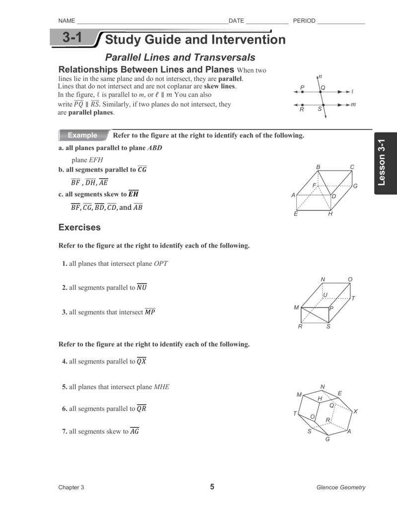 31 Along With Parallel Lines And Transversals Worksheet Answers