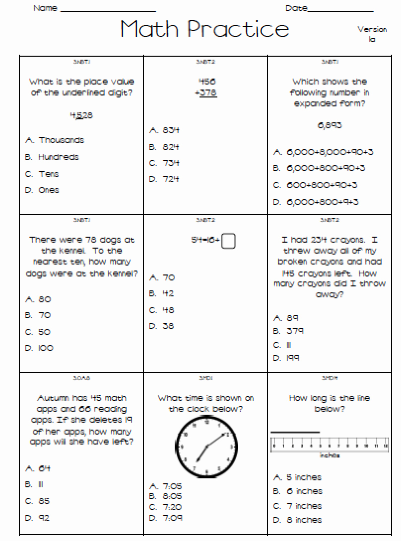 3Rd Grade Math Staar Test Practice Worksheets To Printable  Math Within 5Th Grade Math Staar Practice Worksheets