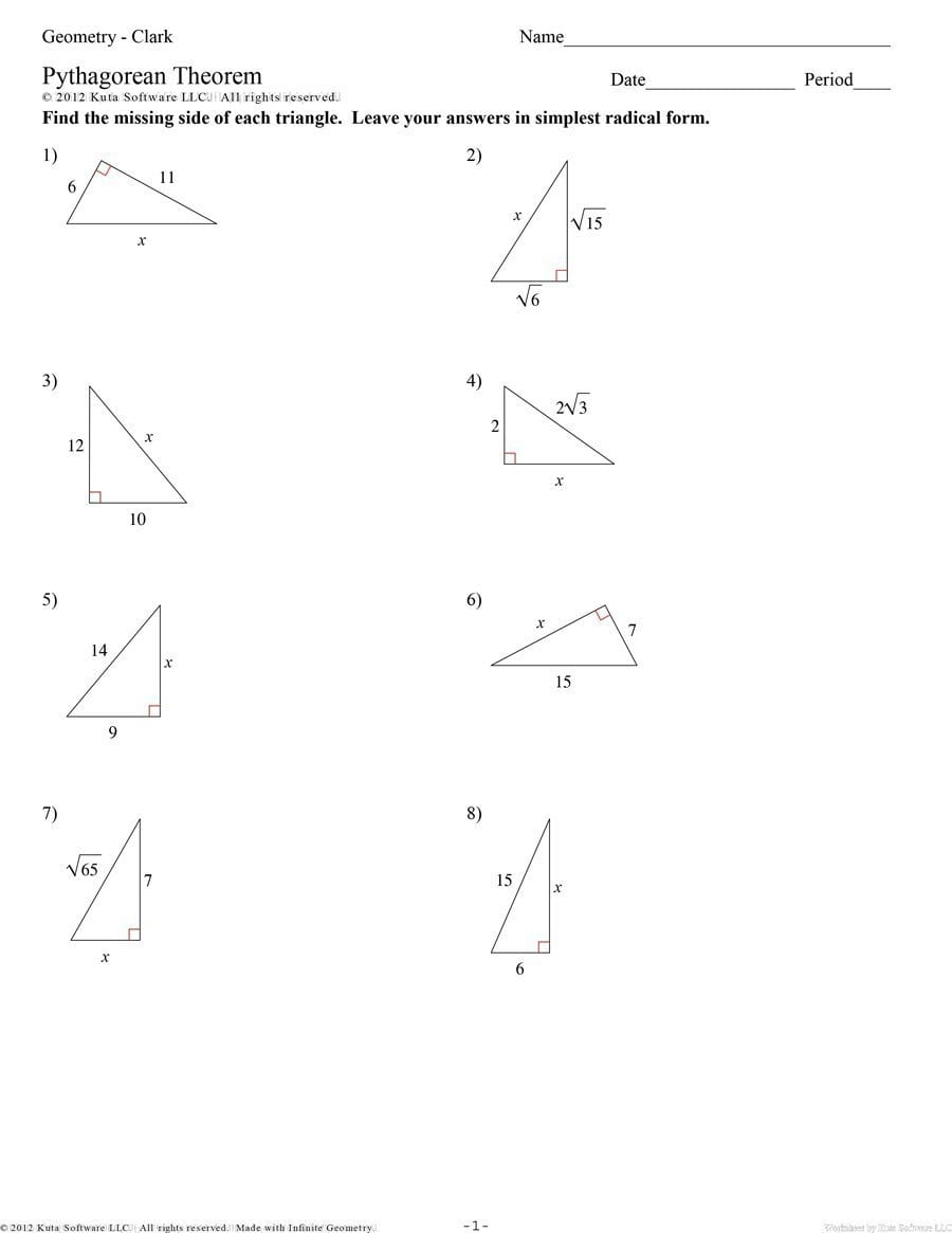 48 Pythagorean Theorem Worksheet With Answers Word  Pdf With Regard To Pythagorean Theorem Review Worksheet