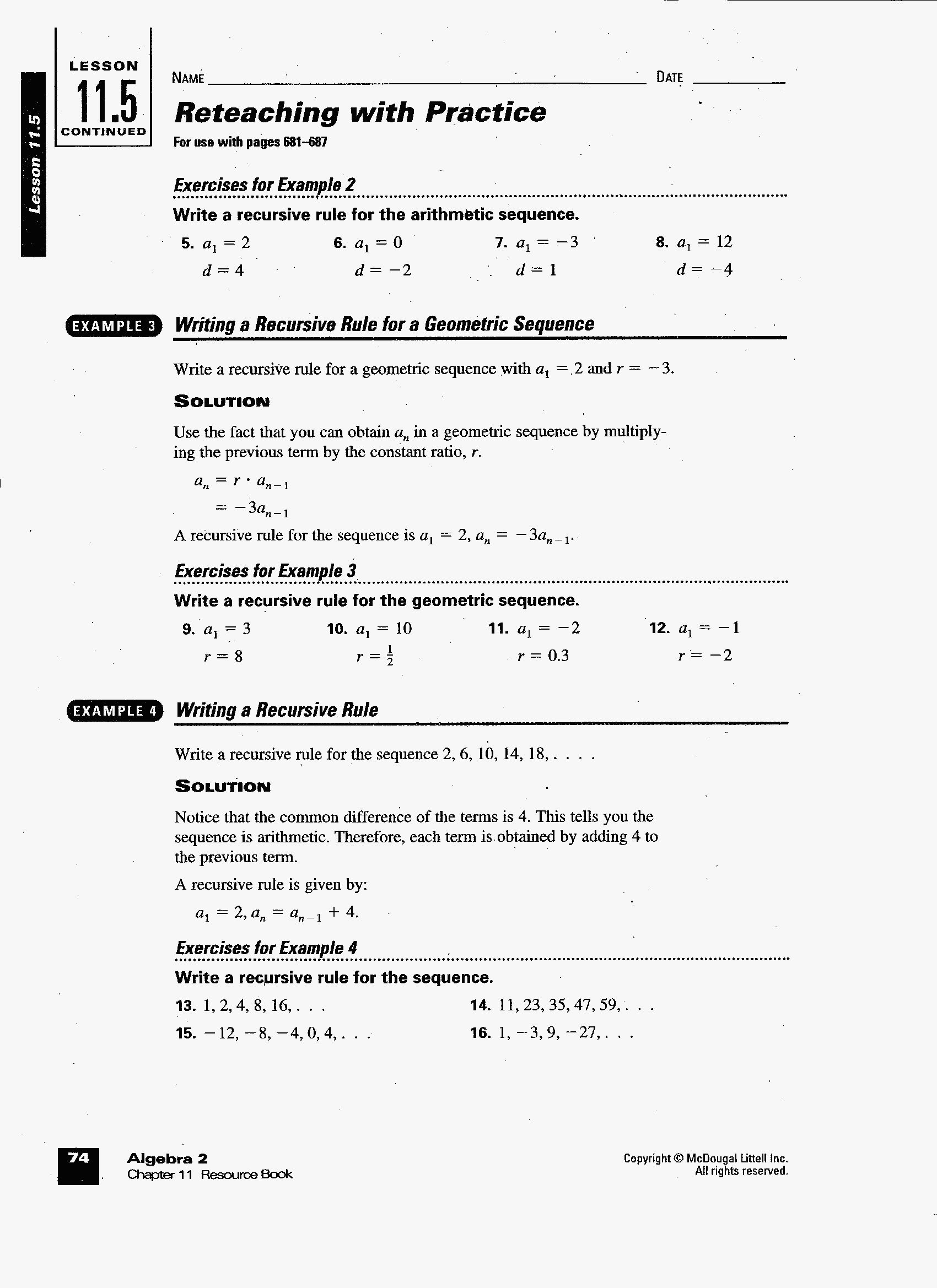 62 Unique Of Sequences Practice Worksheet Pictures With Regard To Explicit And Recursive Sequences Practice Worksheet