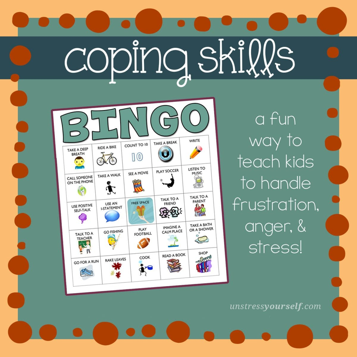 7 Best Coping Skills Worksheets From Around The Web  Unstress Yourself Regarding Coping Skills Worksheets For Youth