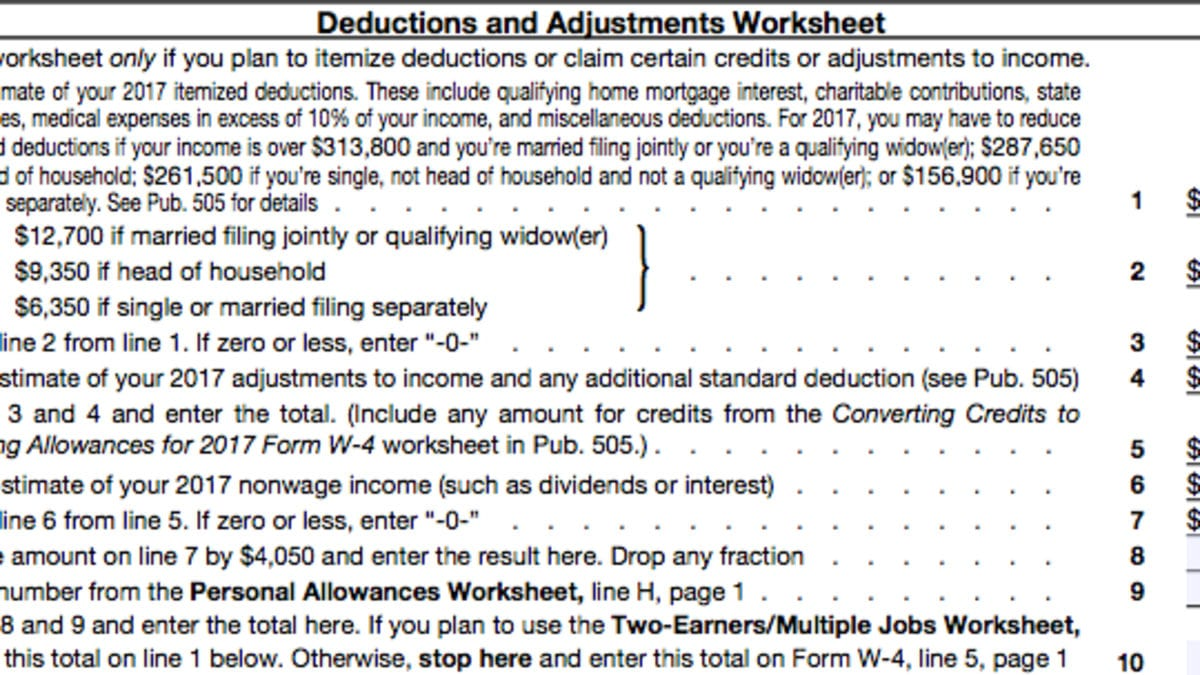 A Beginner's Guide To Filling Out Your W4 For Personal Allowances Worksheet Help