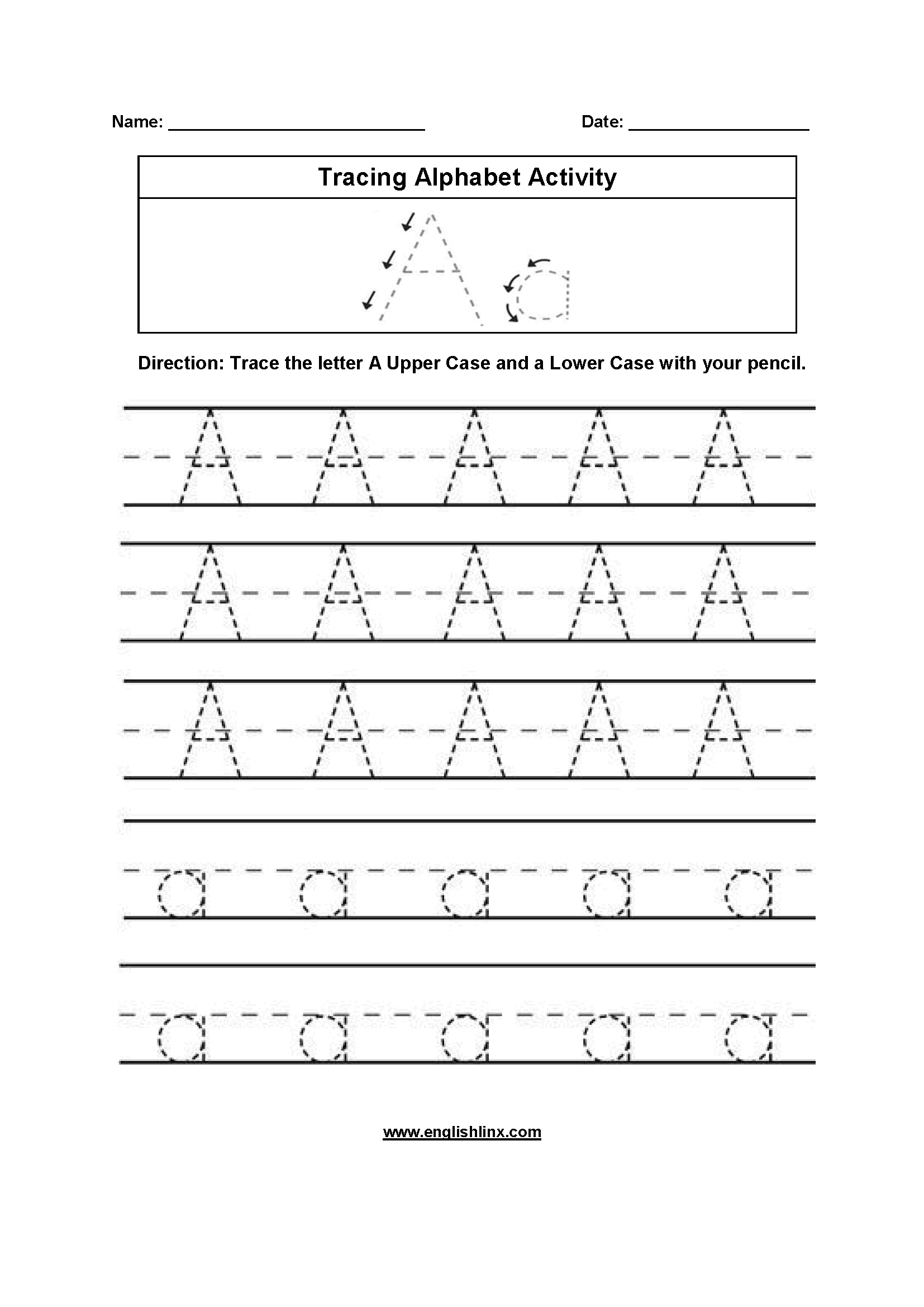 Alphabet Worksheets  Tracing Alphabet Worksheets Or Alphabet Writing Worksheets