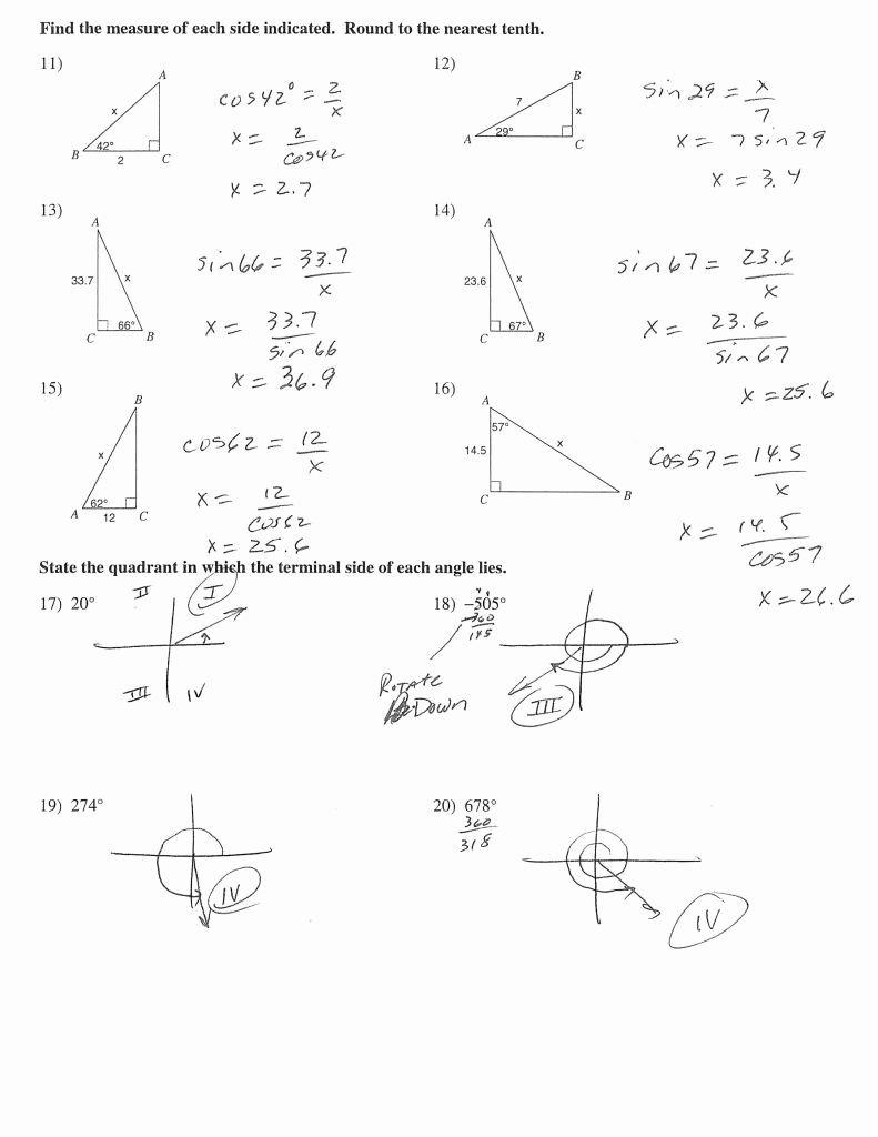 Angle Of Elevation And Depression Worksheet With Answers Also Angles Of Depression And Elevation Worksheet Answers