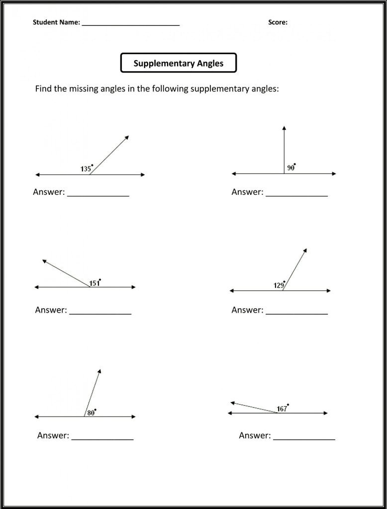 Angle Relationships Worksheet Answers Math Worksheets ...