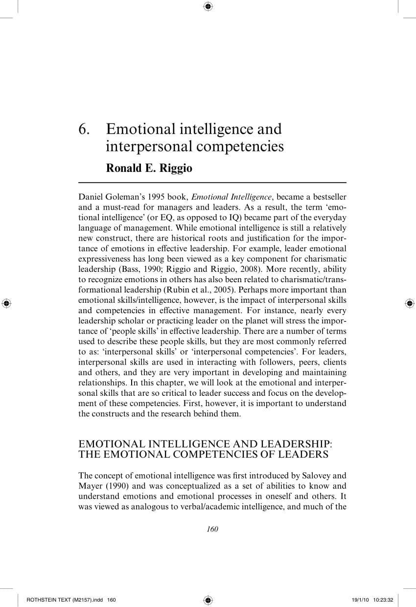 Applying Emotional Intelligence A Practitioners Guide  J Throughout Emotional Intelligence Worksheets Pdf