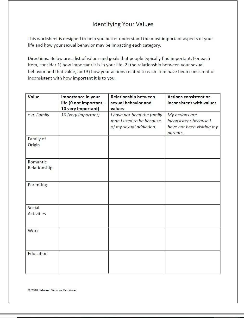 Between Sessions Addiction Therapy Worksheets  Addiction Recovery As Well As Cbt For Adhd Worksheets