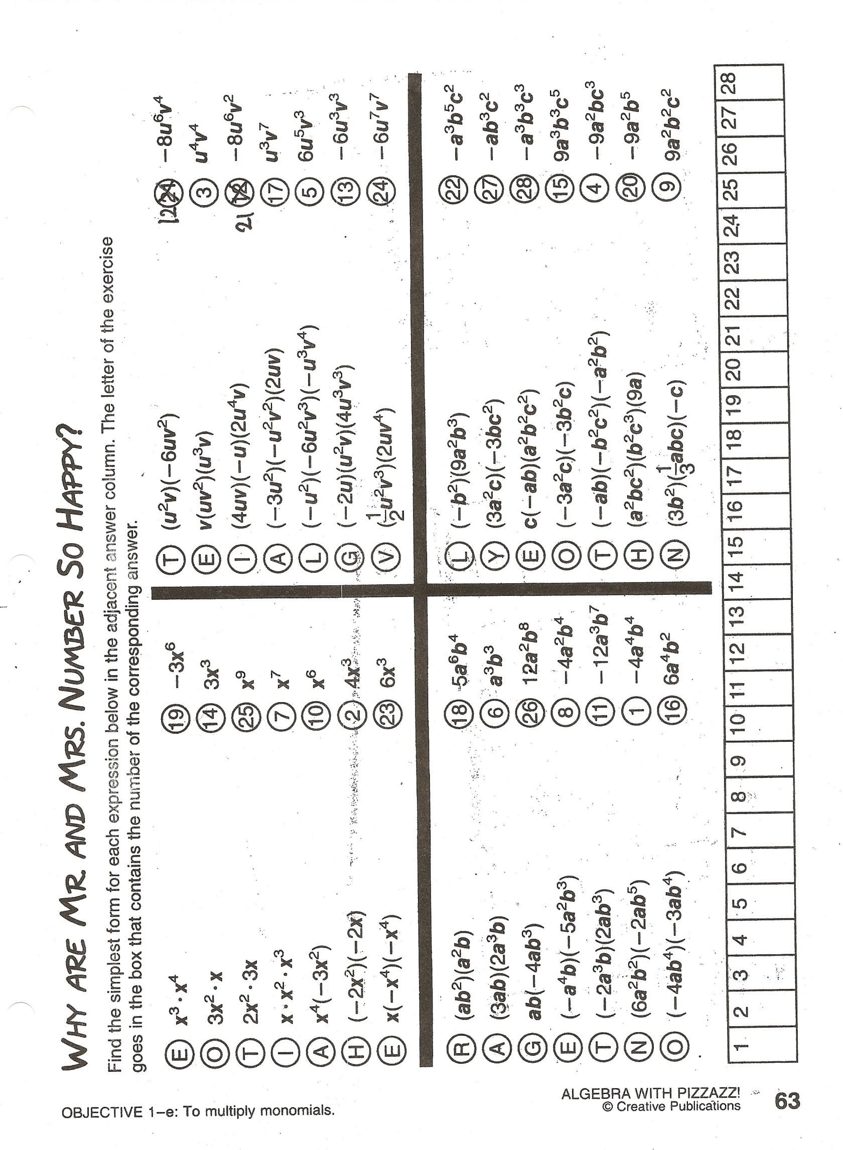 Brilliant Ideas Of Moving Words Math Worksheet Answers Page Algebra As Well As Moving Words Worksheet